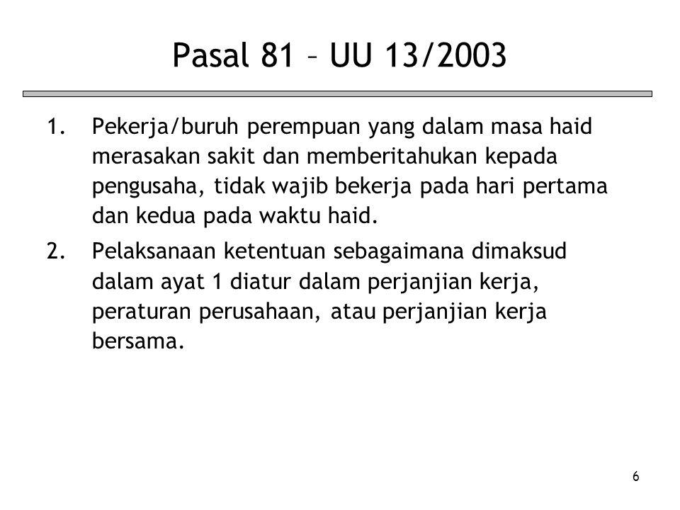 Pasal 81 – UU 13/2003