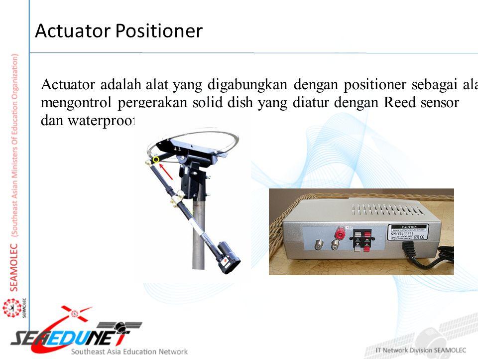 Actuator Positioner Actuator adalah alat yang digabungkan dengan positioner sebagai alat tuas untuk.