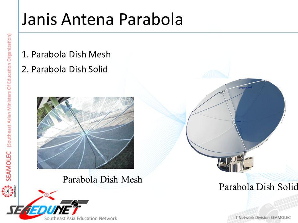 Janis Antena Parabola 1. Parabola Dish Mesh 2. Parabola Dish Solid