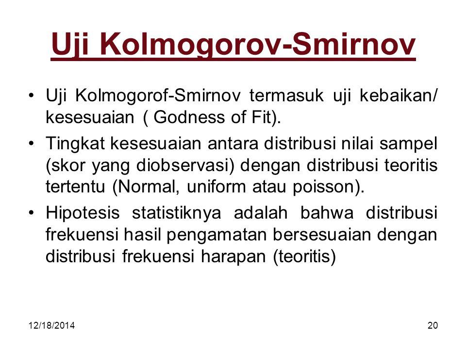 Uji Kolmogorov-Smirnov
