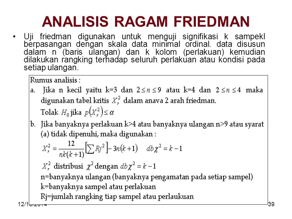 ANALISIS RAGAM FRIEDMAN