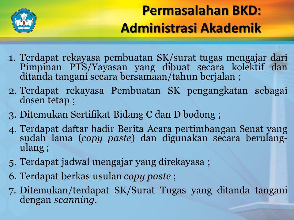Permasalahan BKD: Administrasi Akademik