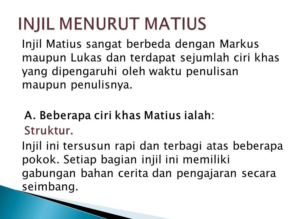 INJIL MENURUT MATIUS