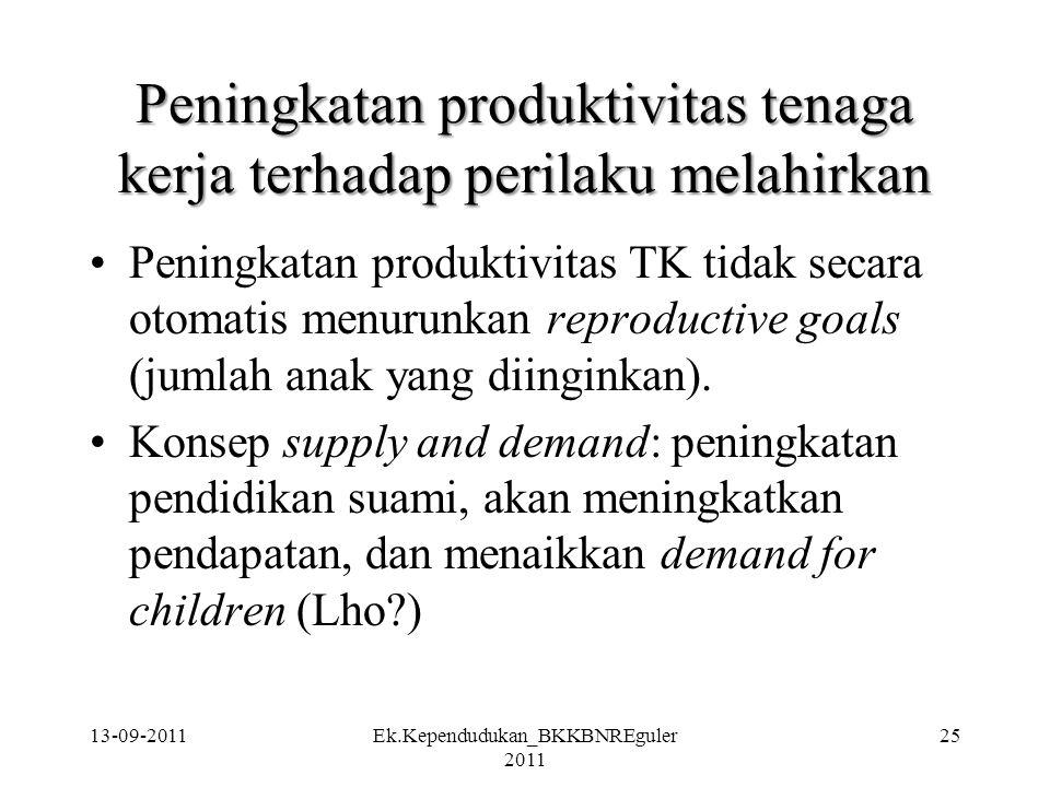 Peningkatan produktivitas tenaga kerja terhadap perilaku melahirkan