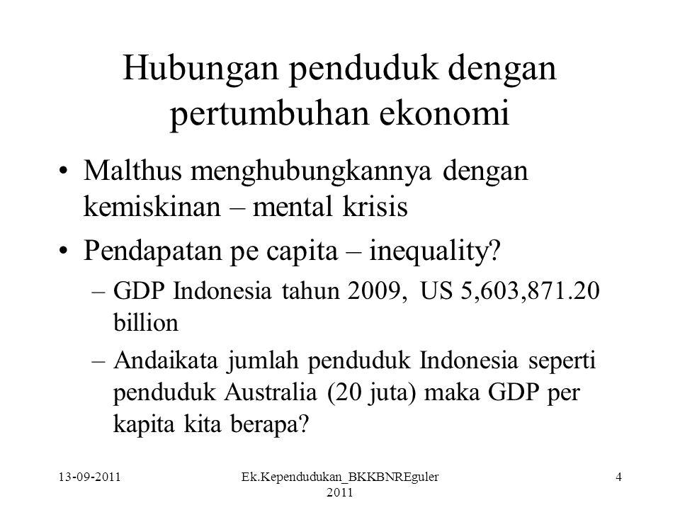 Hubungan penduduk dengan pertumbuhan ekonomi