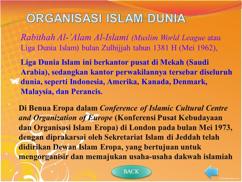 ORGANISASI ISLAM DUNIA