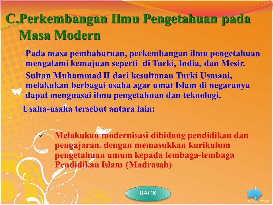 Perkembangan Ilmu Pengetahuan pada Masa Modern