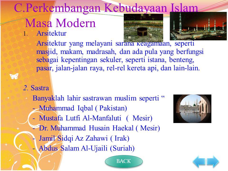 Perkembangan Kebudayaan Islam Masa Modern