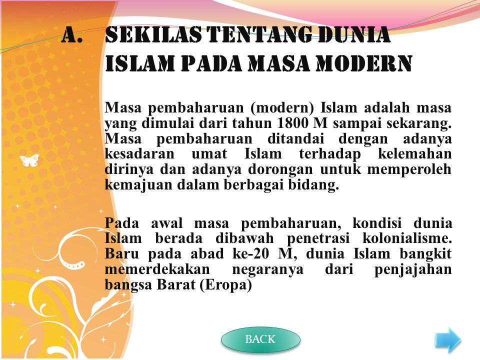 Sekilas tentang Dunia Islam pada Masa Modern