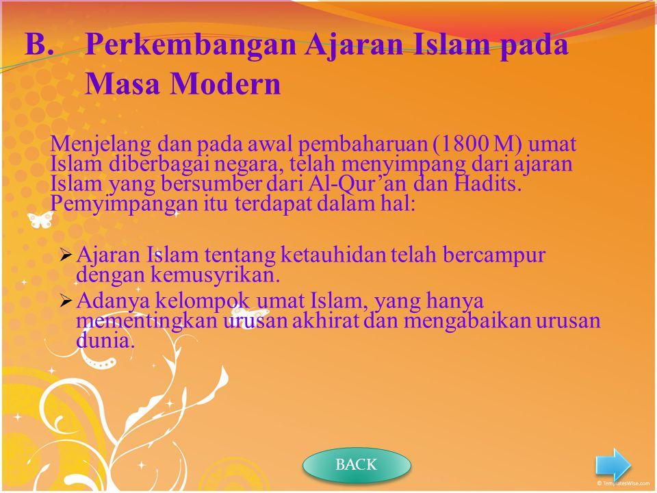 Perkembangan Ajaran Islam pada Masa Modern