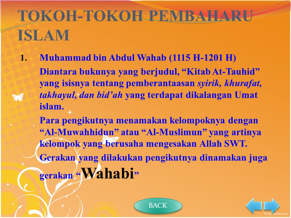TOKOH-TOKOH PEMBAHARU ISLAM