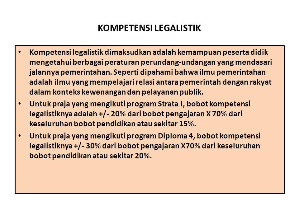 KOMPETENSI LEGALISTIK