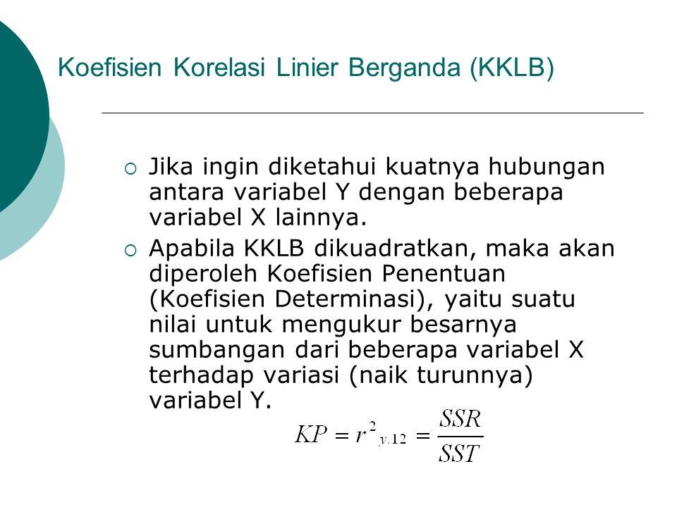 Koefisien Korelasi Linier Berganda (KKLB)