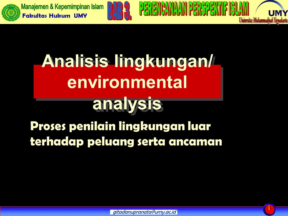 Analisis lingkungan/ environmental analysis