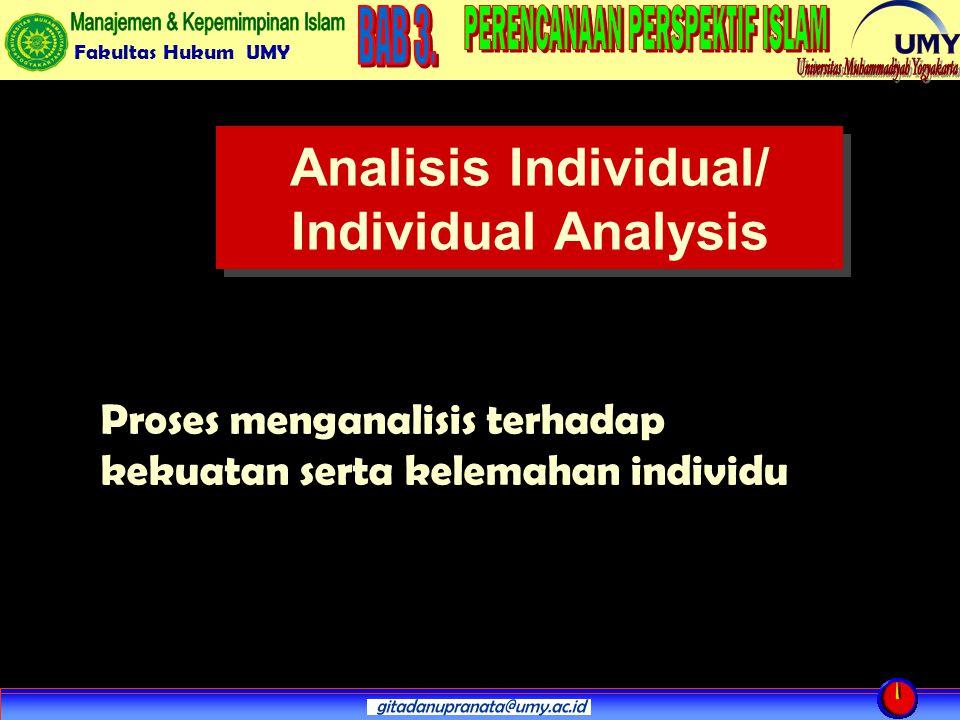 Analisis Individual/ Individual Analysis