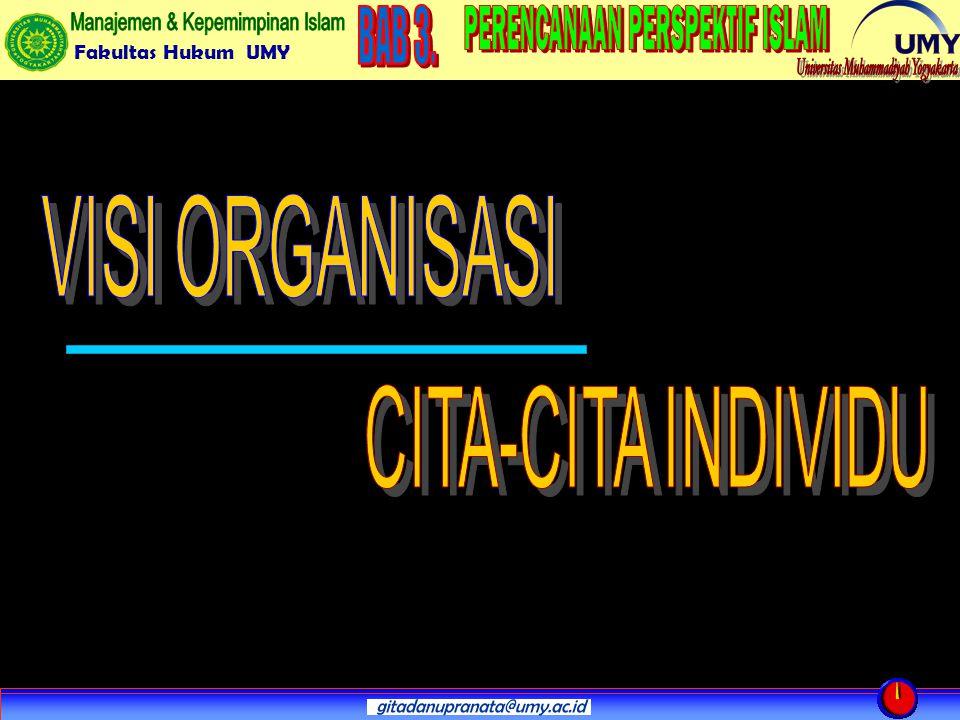 VISI ORGANISASI CITA-CITA INDIVIDU