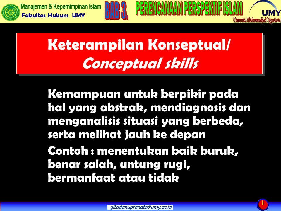 Keterampilan Konseptual/ Conceptual skills