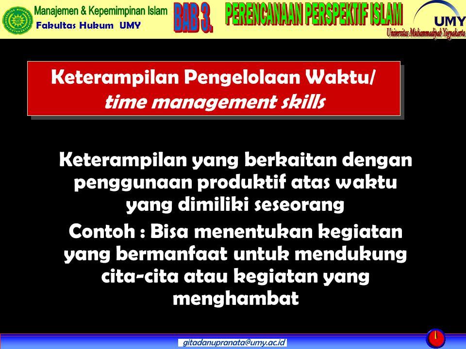 Keterampilan Pengelolaan Waktu/ time management skills
