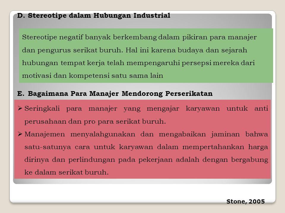 Stereotipe dalam Hubungan Industrial