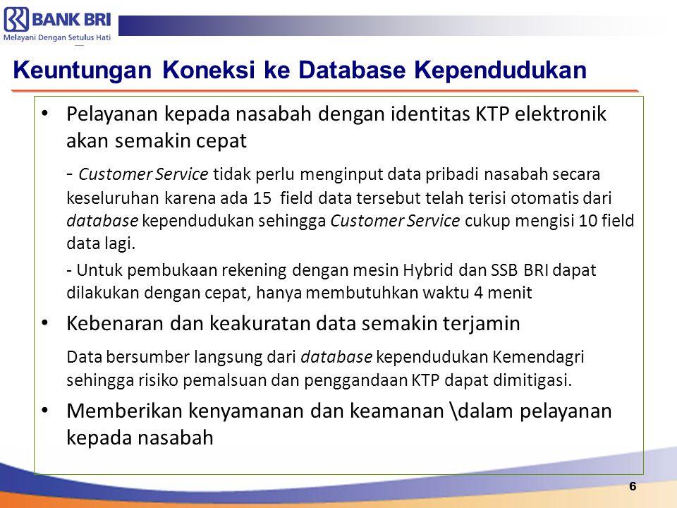 Keuntungan Koneksi ke Database Kependudukan