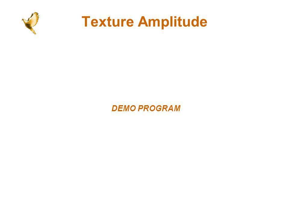 Texture Amplitude DEMO PROGRAM