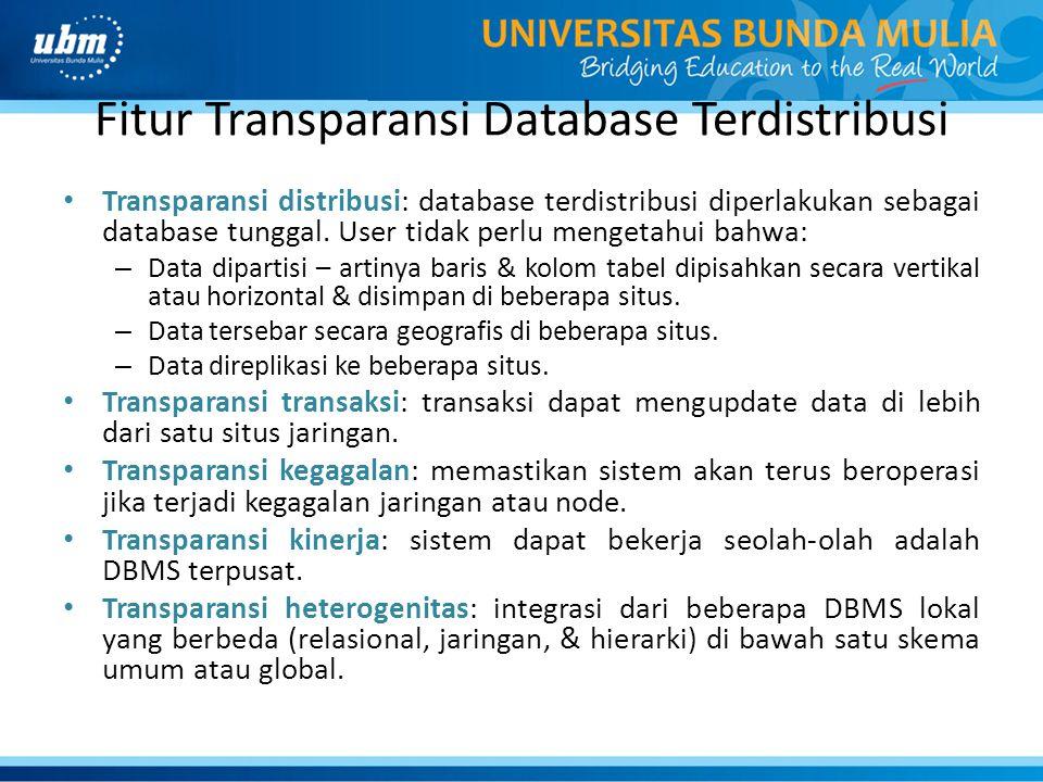 Fitur Transparansi Database Terdistribusi