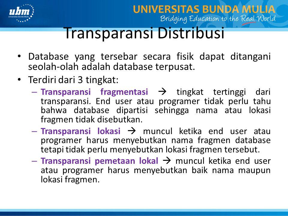 Transparansi Distribusi