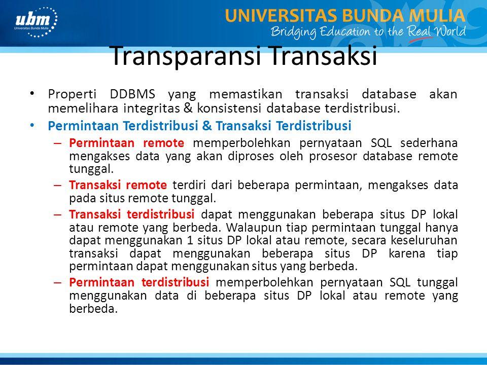 Transparansi Transaksi