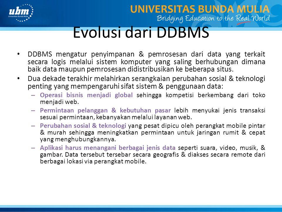 Evolusi dari DDBMS