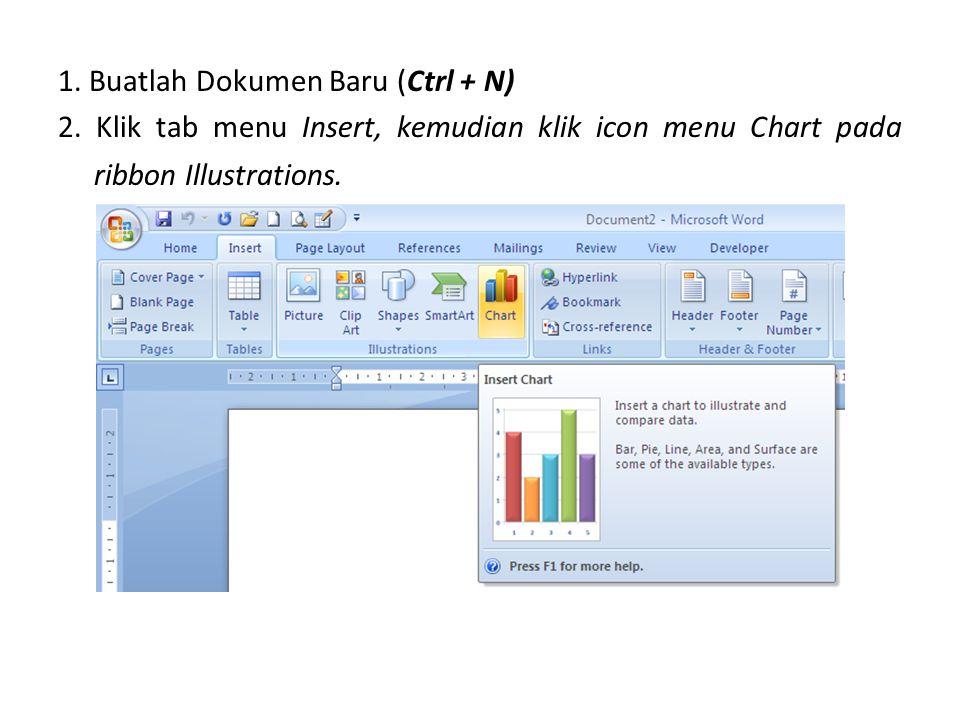 1. Buatlah Dokumen Baru (Ctrl + N) 2
