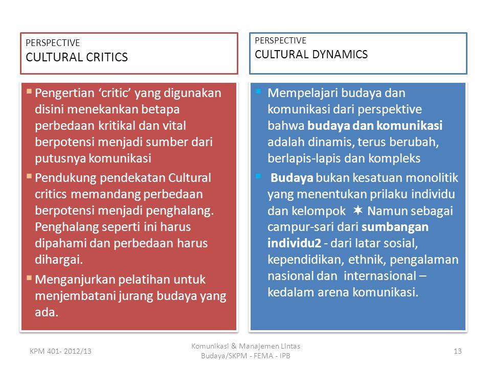 Komunikasi & Manajemen Lintas Budaya/SKPM - FEMA - IPB