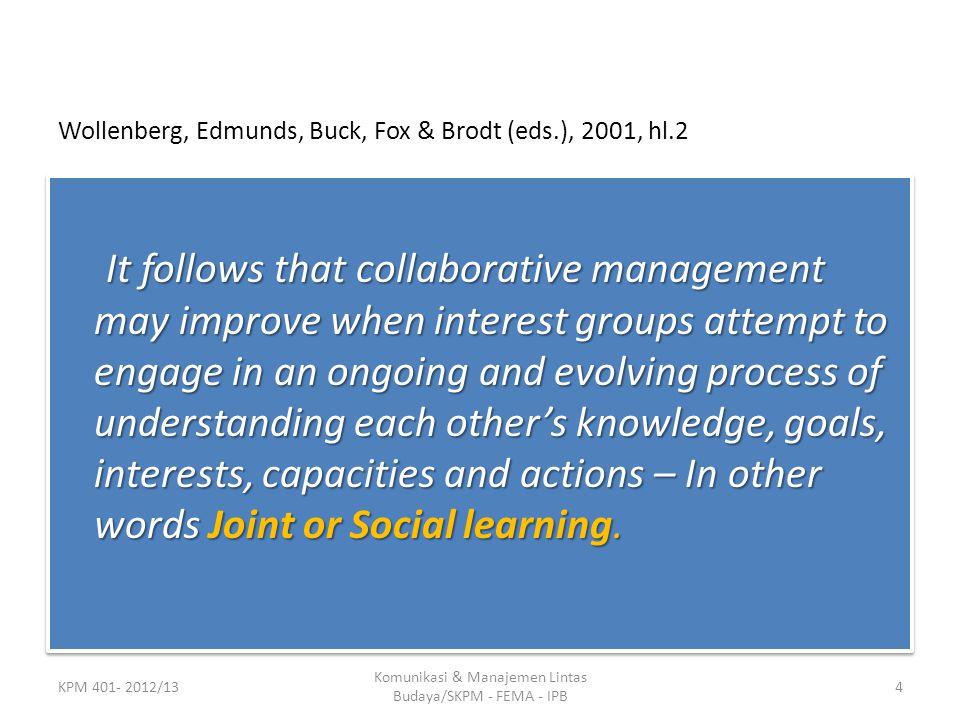 Wollenberg, Edmunds, Buck, Fox & Brodt (eds.), 2001, hl.2