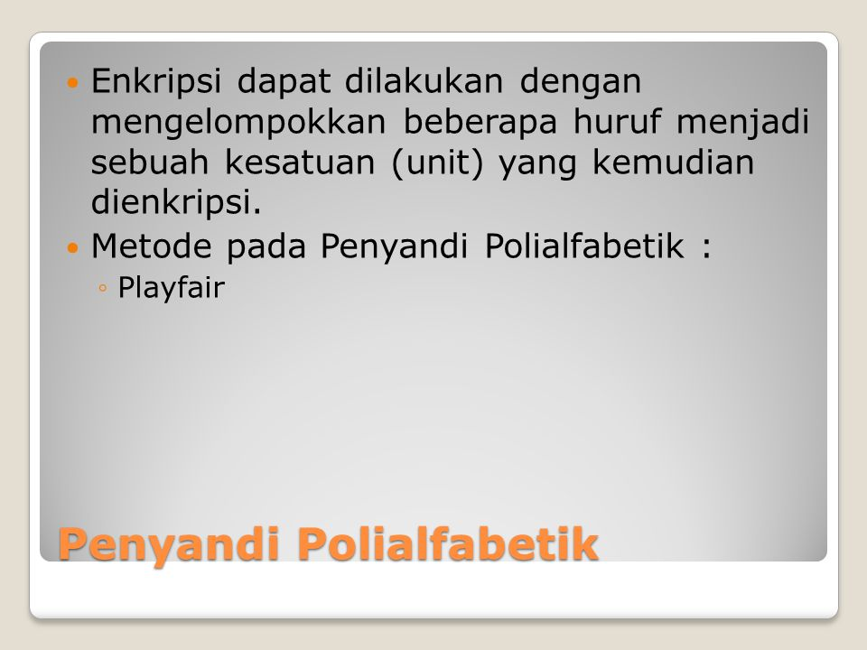 Penyandi Polialfabetik