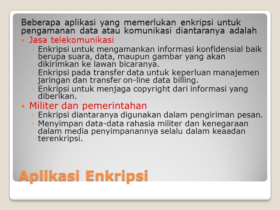 Aplikasi Enkripsi Militer dan pemerintahan