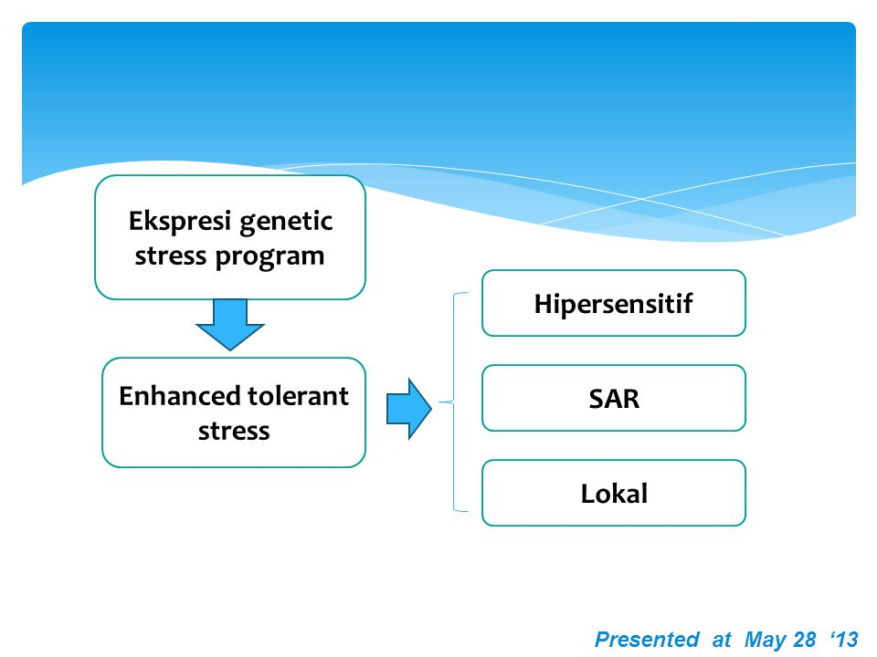 Ekspresi genetic stress program Enhanced tolerant stress