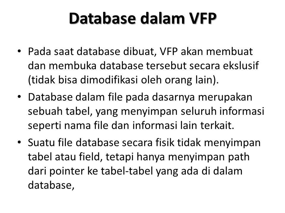 Database dalam VFP