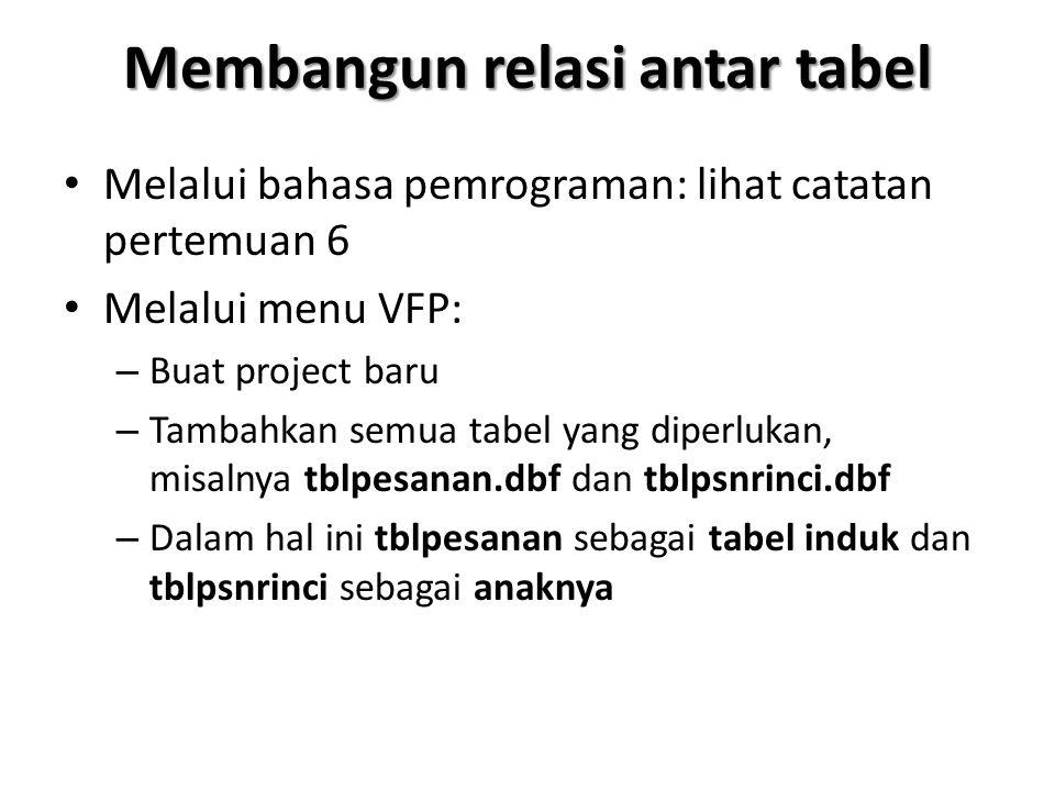 Membangun relasi antar tabel