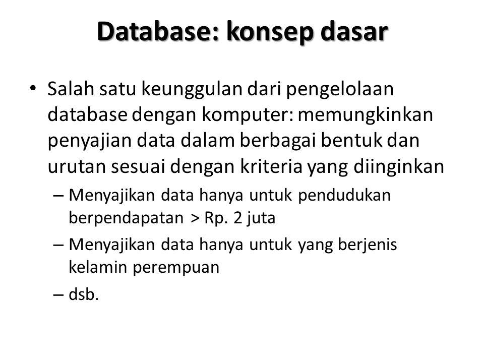 Database: konsep dasar