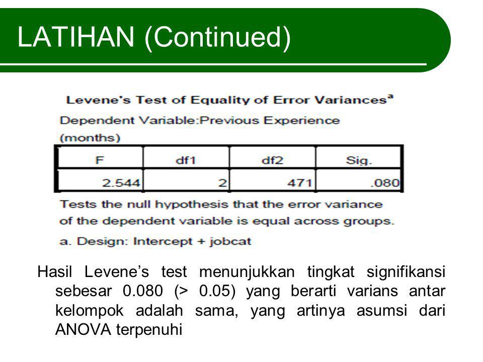LATIHAN (Continued)