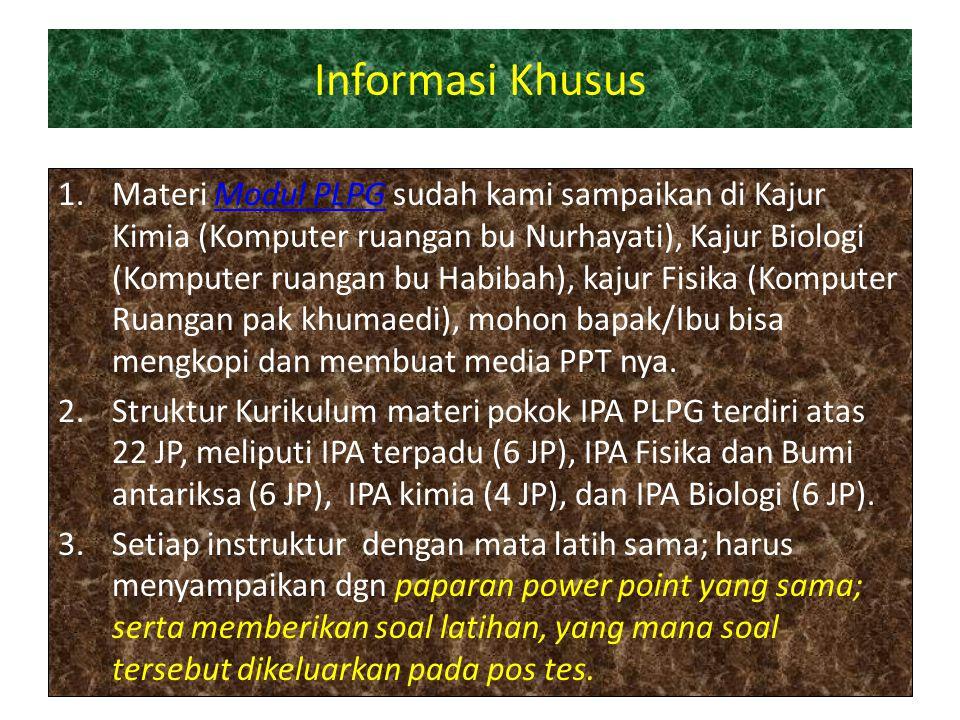 Informasi Khusus