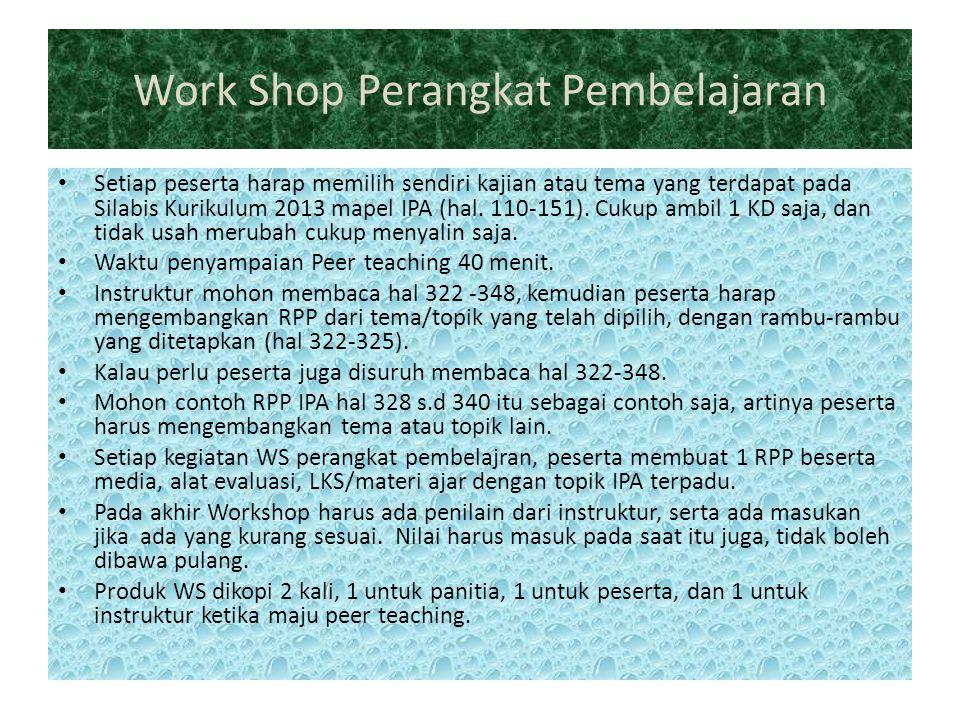 Work Shop Perangkat Pembelajaran