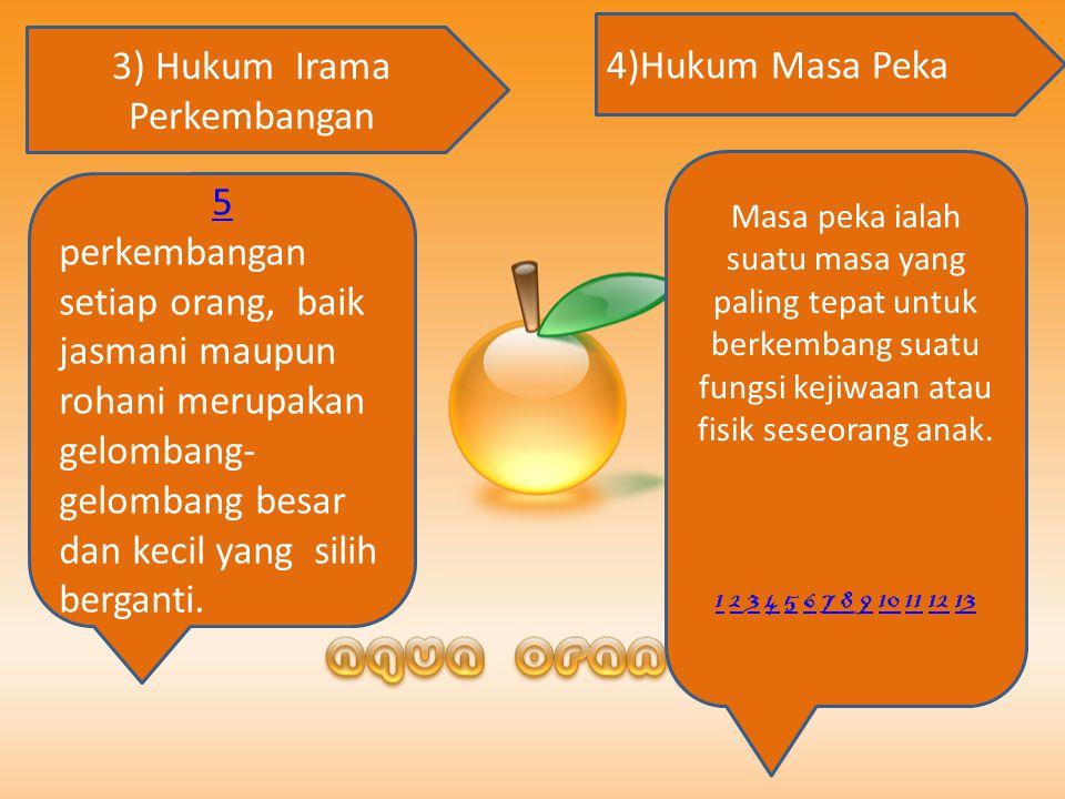 3) Hukum Irama Perkembangan