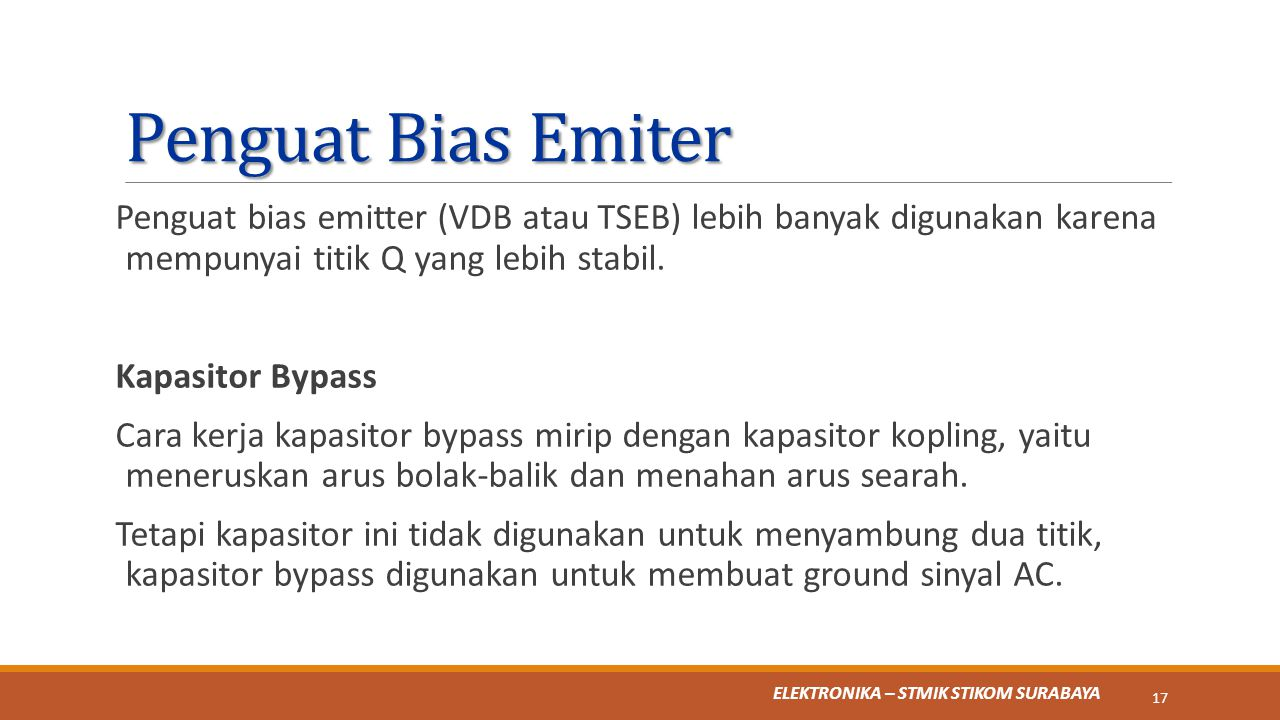 Penguat Bias Emiter