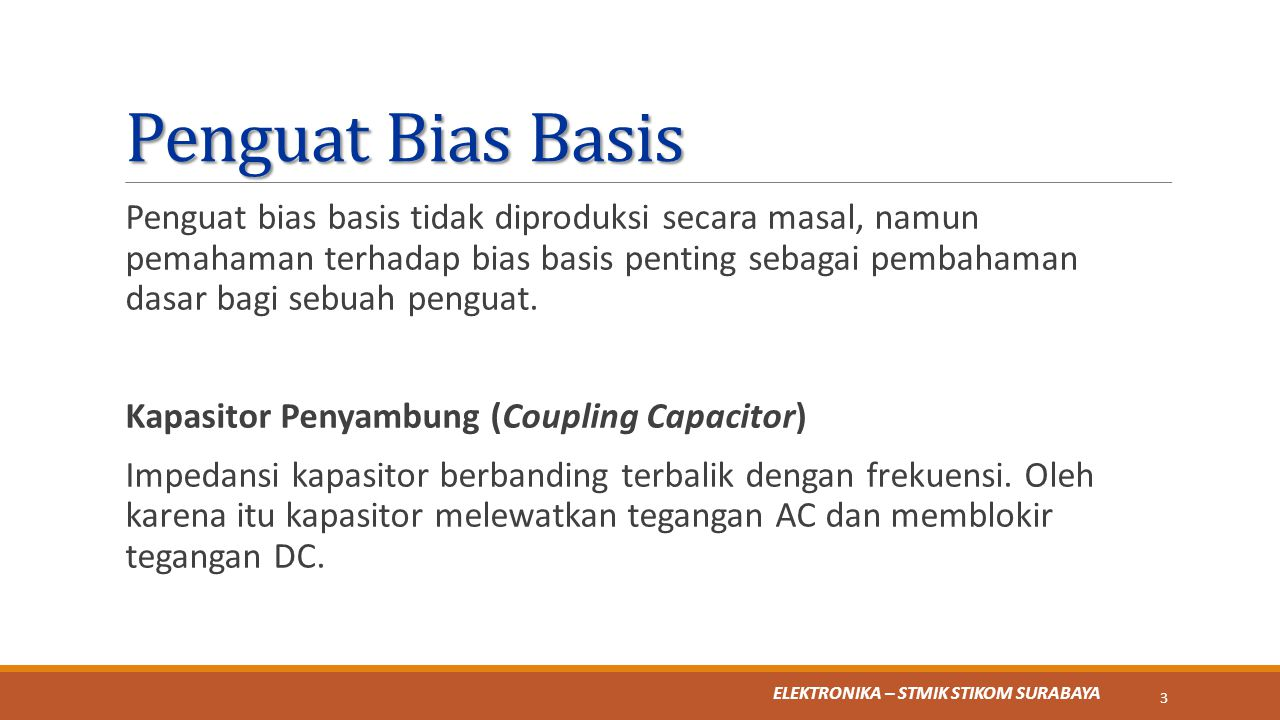 Penguat Bias Basis