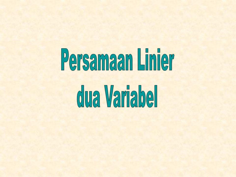 Persamaan Linier dua Variabel