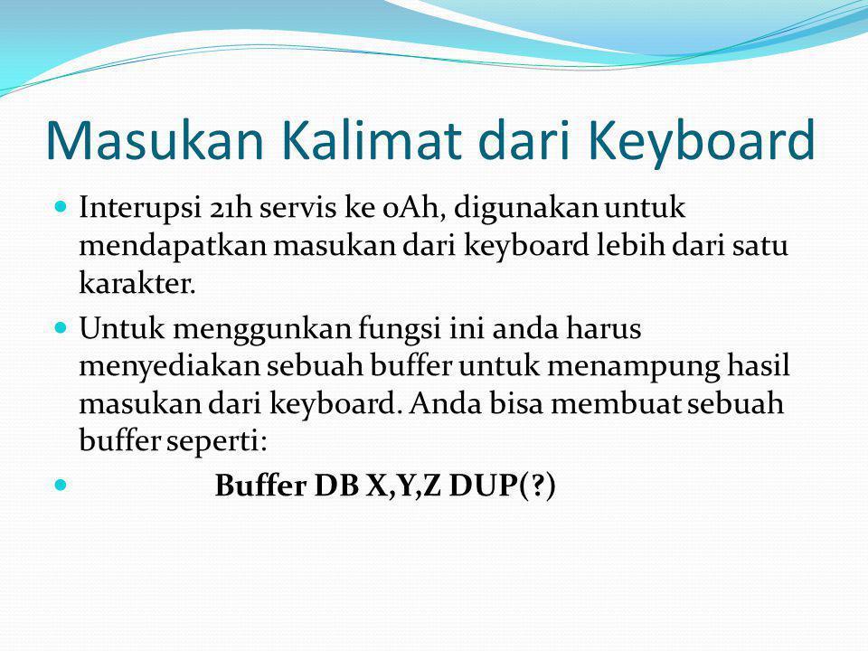Masukan Kalimat dari Keyboard