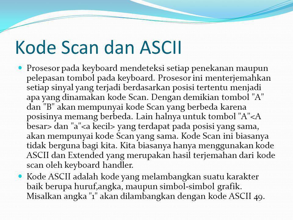 Kode Scan dan ASCII