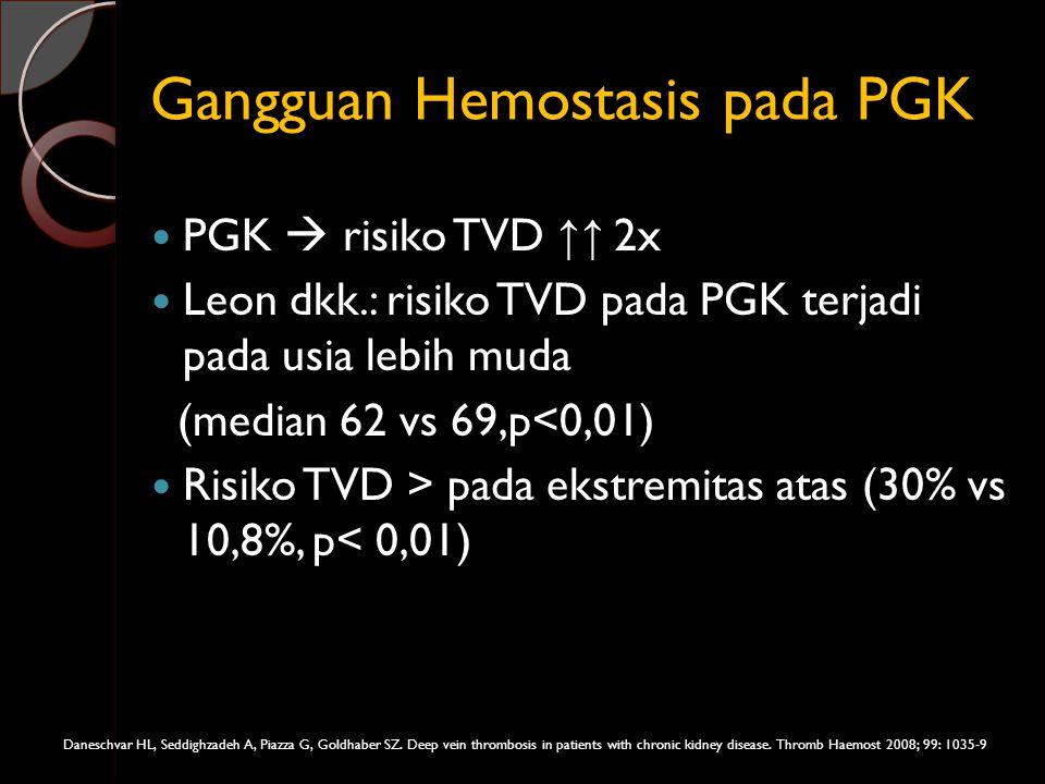Gangguan Hemostasis pada PGK