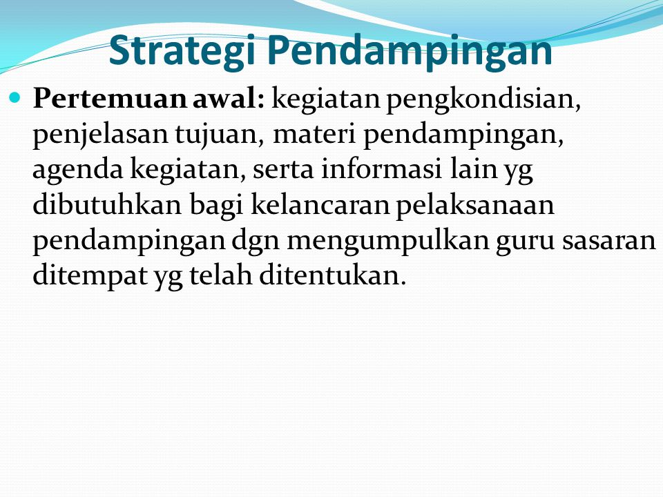 Strategi Pendampingan