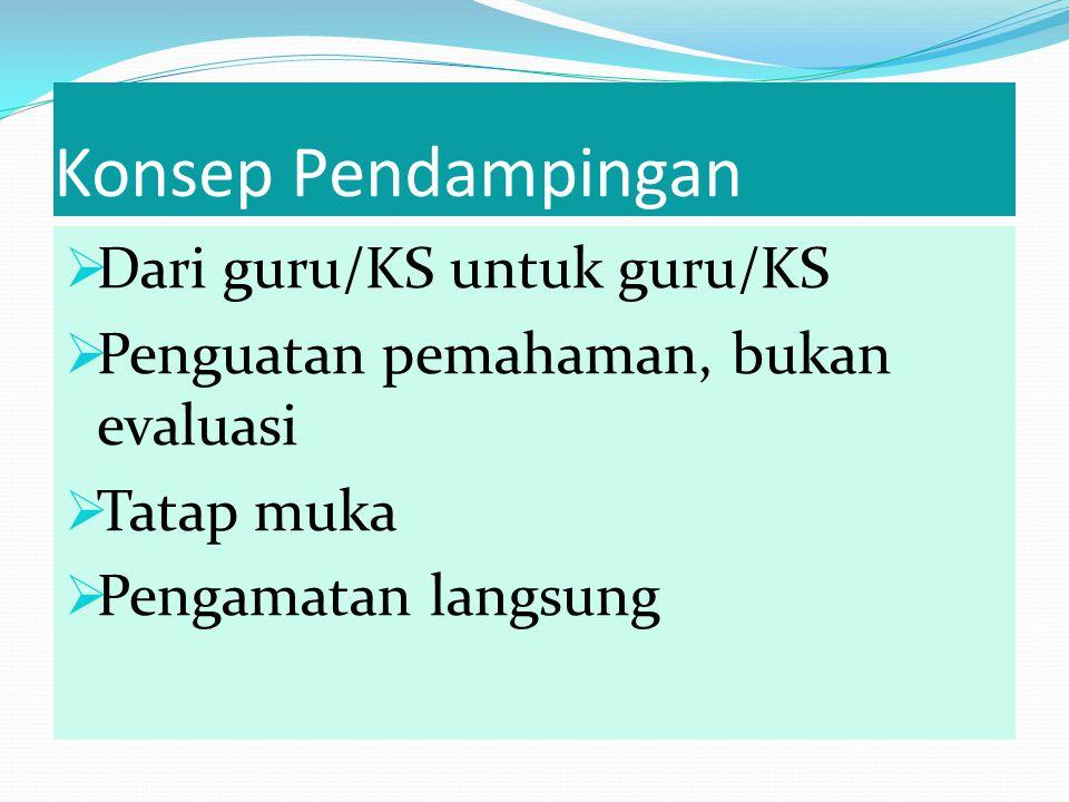 Konsep Pendampingan Dari guru/KS untuk guru/KS